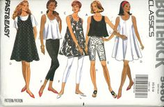 Butterick 5460; sewing pattern; Misses Dress, Top & Leggings Pattern; very loose-fitting, flared, sleeveless dress, above mid-knee or top (three-lengths) has narrow hem. Close-fitting leggings, above mid-knee or lower calf, have elastic waist and narrow hem. Purchased top. Size XS, S, M Pattern is uncut and factory folded Yr. 1991 Thank you for looking and Happy Shopping!!!!! If you have a problem with any pattern please contact me right away so we can come up with a resolution. I want my…