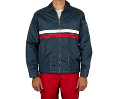 Mens Competition Jacket Navy & Red