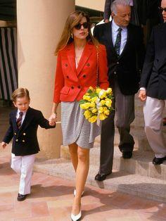 Princess Charlene, Princess Anne, Princess Style, Princess Victoria, Estilo Real, Monte Carlo, Tweed, Andrea Casiraghi, Alexander Mcqueen Dresses