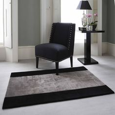 Beautiful Jacaranda Simla Stripe rug - in stock, ready to take home