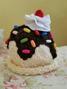 Baby Cap knitted Icecream