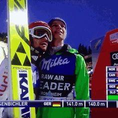Andi + GIF'y + dziwne komentarze Patryszji = to nie skończy się dobrz… , Andreas Wellinger, Ski Jumping, Skiing, Jumpers, Baseball Cards, Germany, Wattpad, Sports, Humor