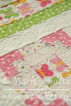 Marie's quilts: Зефирное лоскутное одеяло/ Marshmallow baby quilt