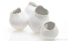 Jacobson Floral - Containers : Ceramics,Pottery : 9.5 X 6.5 X 5 Gallery Vase