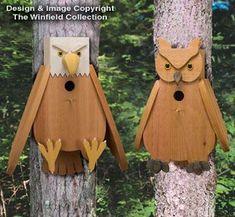 birdhouse pictures | ALL - Cedar Owl & Eagle Birdhouse Plans #birdhouseplans