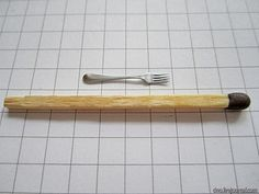 Beautifully made fork from tin tutorial - not for the faint hearted - lots of pictures - Russian