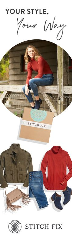 Fill your Stitch Fix Style Profile, and your personal stylist will send the latest trends right to your doorstep. Refresh your wardrobe with the best of fall fashion, handpicked for your body, budget and busy schedule. Keep only what you love, and send the rest back�shipping is always free both ways!