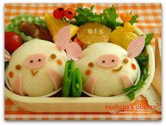 Pig sandwich bento