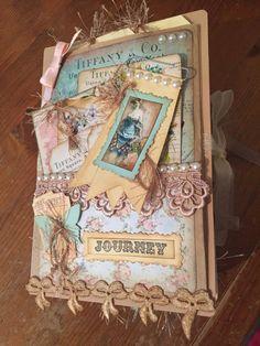 Handmade vintage journal  video in by MyCraftilittlecorner on Etsy