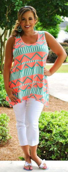 Perfectly Priscilla Boutique - Hot Like A Heatwave Tank, $32.00 (http://www.perfectlypriscilla.com/hot-like-a-heatwave-tank/?page_context=category
