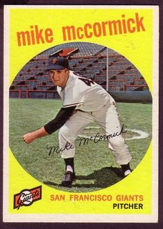 1959 TOPPS MIKE McCORMICK CARD NO:148 NEAR MINT