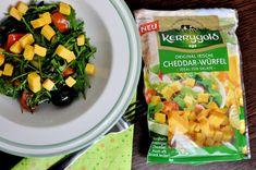 Die Original Irischen Cheddar-Würfel verleihen Salaten das gewisse herzhafte Etwas  – vorausgesetzt sie schaffen es in den Salat ;)