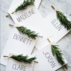 10 DIY Christmas Place Cards for Your Holiday Table - PureWow Thanksgiving Place Cards, Hosting Thanksgiving, Thanksgiving Ideas, Wedding Table, Fall Wedding, Winter Wedding Ideas Diy, Winter Weddings, Wedding Seating, Christmas Wedding