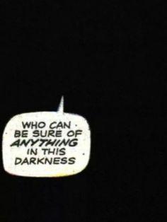 Darkness Comic Book Word Bubble | retro vintage comic book pop art illustration