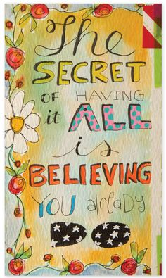 """""""The secret of having it all is believing you already do."""" Roc Nicholas shares her art journaling pages with meaningful connections, inside Art Journaling Magazine."""