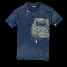 Kapital | sashiko pocket tee | cotton | indigo | Japan | 2013