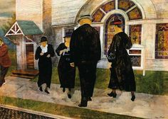 "Ben Shahn - ""Self Portrait Among Churchgoers"" (1907)"