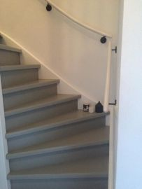 Stair Renovation, Amsterdam Apartment, Open Trap, Staircase Remodel, Painted Stairs, Entry Hallway, Home Reno, Decoration, Kitchen Decor