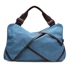 Canvas Portable Flower Design Big Handbags Crossbody Bags