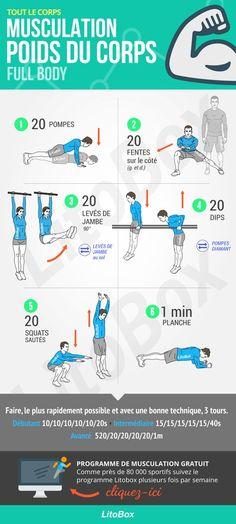 Entraînement de musculation au poids du corps