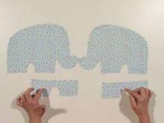 Resultado de imagen para molde de elefante em tecido
