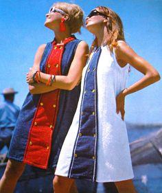 60's Fashion - remember towelling beachwear!!