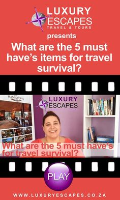 What are the 5 must have's for travel survival? Watch now on https://youtu.be/7UIgC9mXS7U Thank you and enjoy!