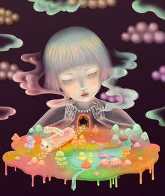 Sonya Fu's Dreamy Paintings Inspired by Sleep Paralysis | Hi-Fructose Magazine