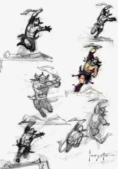 Conan Sketches by Frank Frazetta