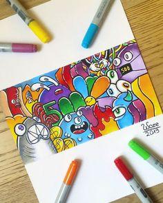 Cute Doodle Art, Cool Doodles, Doodle Art Designs, Doodle Art Drawing, Simple Doodles, Cool Art Drawings, Doodle Sketch, Art Sketches, Pencil Drawings