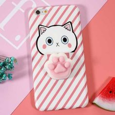 """Bakeey?""""? Cartoon 3D Squishy Squeeze Slow Rising Cat Claws Soft TPU Case for iPhone 6 6s& 6Pl"""