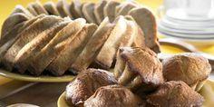 Banaanikakku (inkiväärillä) tai muffinsit Something Sweet, Apple Pie, Almond, Recipies, Food And Drink, Bread, Baking, Desserts, Candies