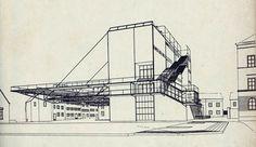 Hannes Meyer, entwurf Peterschule Basel, 1925