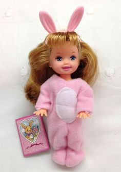 MINT Barbie Kelly Club LFOK BUNNY MELODY 1998 Early Kelly Doll Easter Basket