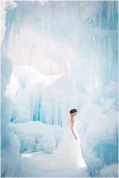 Plum Pretty Photography | Colorado Winter Wedding Photography | Trash the Dress | Colorado Ice Castles | Winter Bridal Portraits | Breckenridge Wedding | Winter Wonderland Wedding