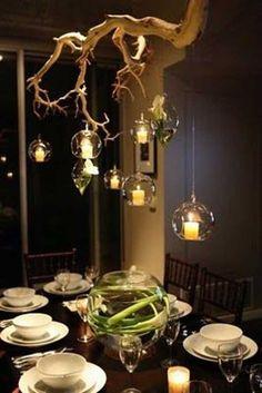 Rustikale Baum Zweig Kronleuchter 3 2 #LampEsstisch