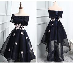 2017 Homecoming Dress Chic Black Asymmetrical Short Prom Dress Party Dress JK210