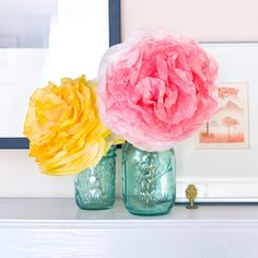 DIY Peony-Style Coffee Filter Flowers: If you're looking for pretty party decor or a simple way to add a pop of flowers to your space (that won't wilt), make your own peony-style paper flowers with the help of coffee filters.
