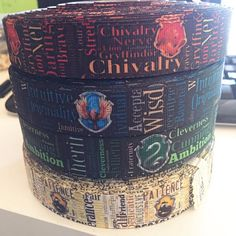 Hogwarts Houses, Chivalry, Harry Potter Hogwarts, Collar And Leash, Ravenclaw, How To Make Bows, Grosgrain Ribbon, Coffee Cans, Bow Making