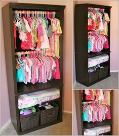Idea closet..if you don't have a closet, this would be perfect for a baby. Even a toddler