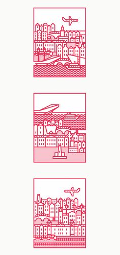 Minimalist icon designs highlight the beauty of Amsterdam