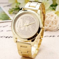 9e99bbc802 Marca de fábrica famosa mujeres de moda hombres del reloj de oro superior  llena de acero inoxidable reloj de pulsera de lujo crystal mujeres piedras  relojes