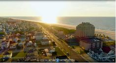 Can you name which Legacy Vacation Resort has a stunning sunrise like this? Vacation Club, Vacation Resorts, Vacation Travel, Brigantine Beach, New Jersey Beaches, Beach Town, Dolores Park, Sunrise, Coast