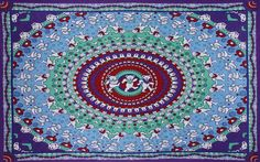 """Tapestry - Grateful Dead """"Dancing Bear"""" Blue 60 X 90 - Free Shipping"""