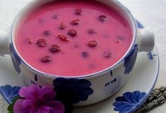 Cold Hungarian Cherry Soup calls for sour cherries, but we've made this with canned Bing cherries (sweeter) and with fresh cherries, both sweet and sour. Bing Cherries, Sweet Cherries, Soup Recipes, Healthy Recipes, Yummy Recipes, Hungarian Recipes, Hungarian Food, Sour Cherry, Hot Soup