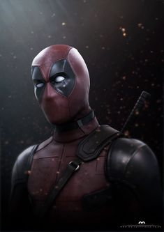 Deadpool (fan art), Marcus Whinney on ArtStation at https://www.artstation.com/artwork/Z3RXm