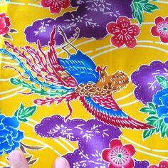 Cotton - Okinawa bingata print fabric - Yellow 4, via Flickr.