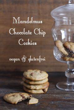 Dattel gesüßte Mandelmus und Teff Chocolate Chip Cookies