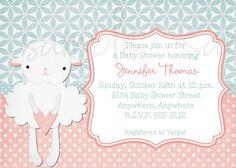 Little Lamb Baby Shower Invitation by LoveLifeInvites on Etsy, $12.50