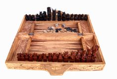 Hand Carved Chess/Backgammon Set from Bali by SanMonet on Etsy, $195.00